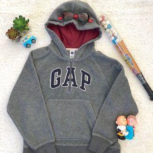 GAP Gray Fleece Half Zip Hoodie  Boys Size Medium